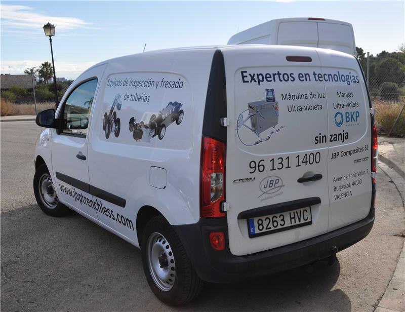 Vehículos JBP para instalaciones sin zanja